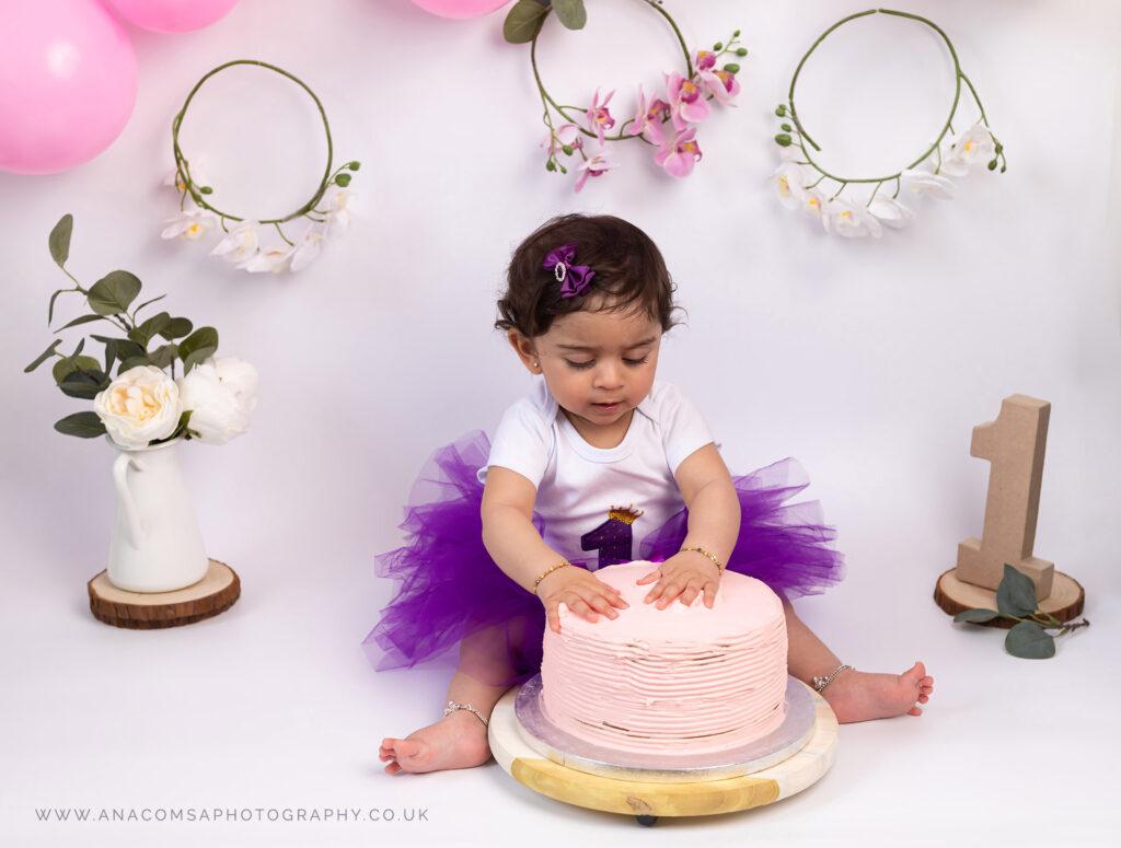 birthday cake photohraphy